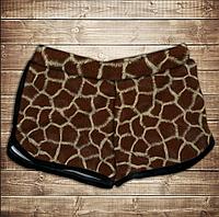 Шорты 3D принт женские-Жираф