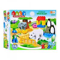 Конструктор для малышей JDLT 5085 Зоопарк 26 деталей Т