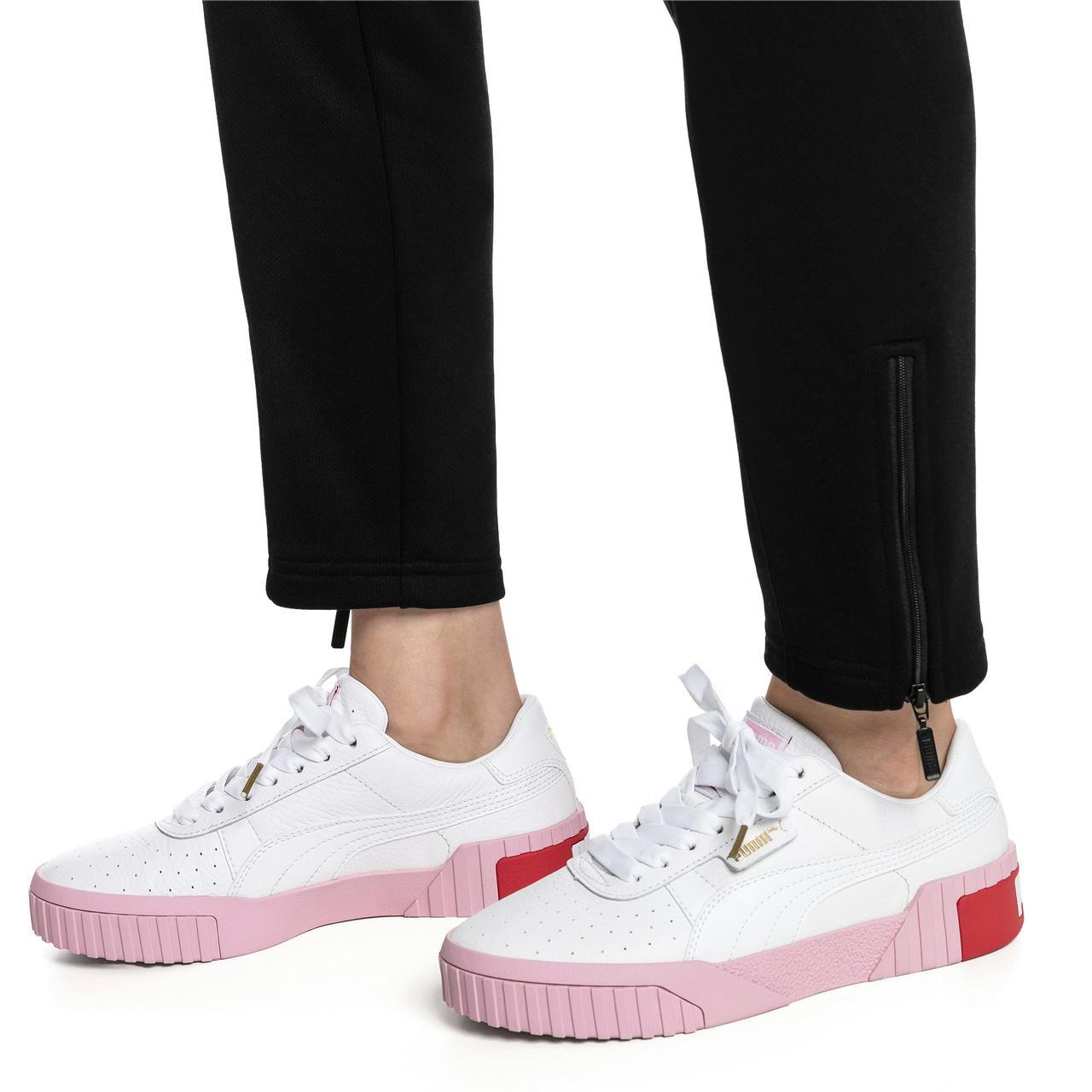 Кросівки Puma жіночі Cali в стилі Пума Калі Білі/Рожеві (Репліка ААА+)