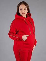 Худі жіноча з капюшоном велике червоне