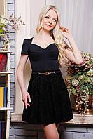Очаровательное женское платье IR Риччи  цвета: темносиний | чёрный