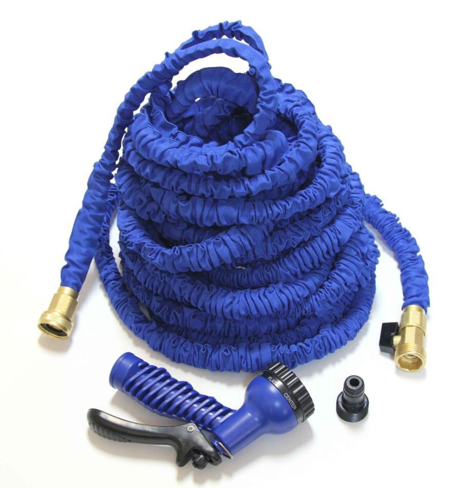 Садовий шланг поливальний X-hose 75 метрів синій розтягується шланг для поливу