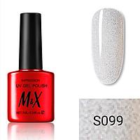 Гель-лак для ногтей фирмы M&X 7ml блестки мелкие перламутровая серия