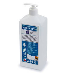 Дезинфицирующее средство для рук Clean Stream (антисептик септил 70%) гель 1 л - флакон с дозатором.