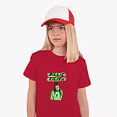 Детская футболка для девочек Билли Айлиш (Billie Eilish) (25186-1207) Красный