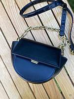 Шикарна маленька жіноча сумочка - чорна, фото 2