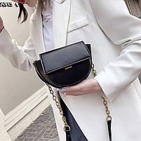 Шикарна маленька жіноча сумочка - чорна, фото 8