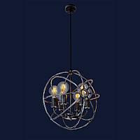 Потолочный светильник в стиле лофт цвет черный с потертостями Levistella&746WXA074-6 OX