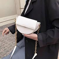 Шикарна маленька жіноча сумочка - Біла, фото 2