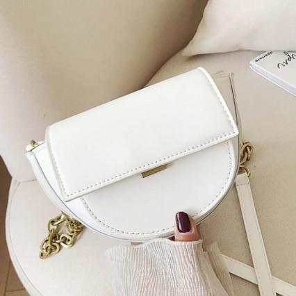 Шикарна маленька жіноча сумочка - Біла