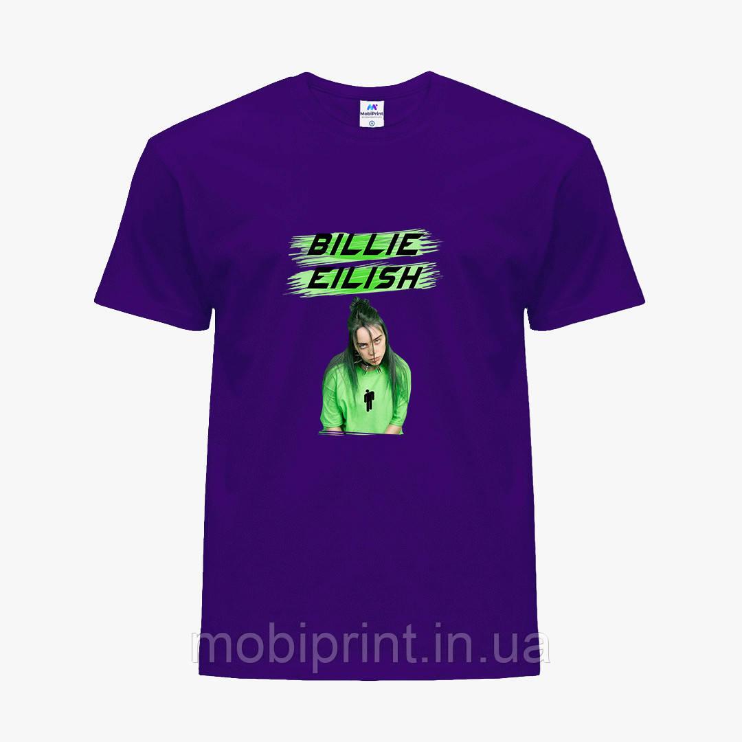 Детская футболка для девочек Билли Айлиш (Billie Eilish) (25186-1207) Фиолетовый
