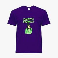 Детская футболка для девочек Билли Айлиш (Billie Eilish) (25186-1207) Фиолетовый, фото 1