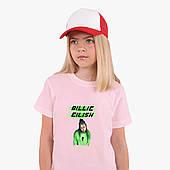 Детская футболка для девочек Билли Айлиш (Billie Eilish) (25186-1207) Розовый