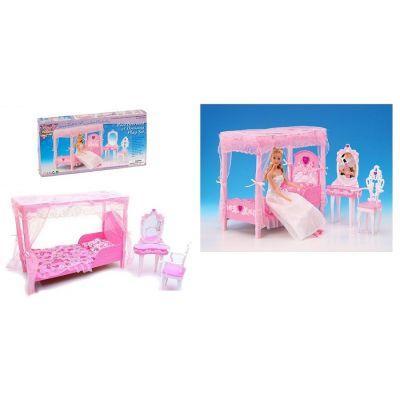"""Мебель """"Gloria"""" 2614 (36шт/3) для спальни, кровать, туалетный столик, …в кор.33*17*5, 5см"""