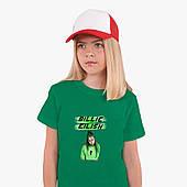 Детская футболка для девочек Билли Айлиш (Billie Eilish) (25186-1207) Зеленый
