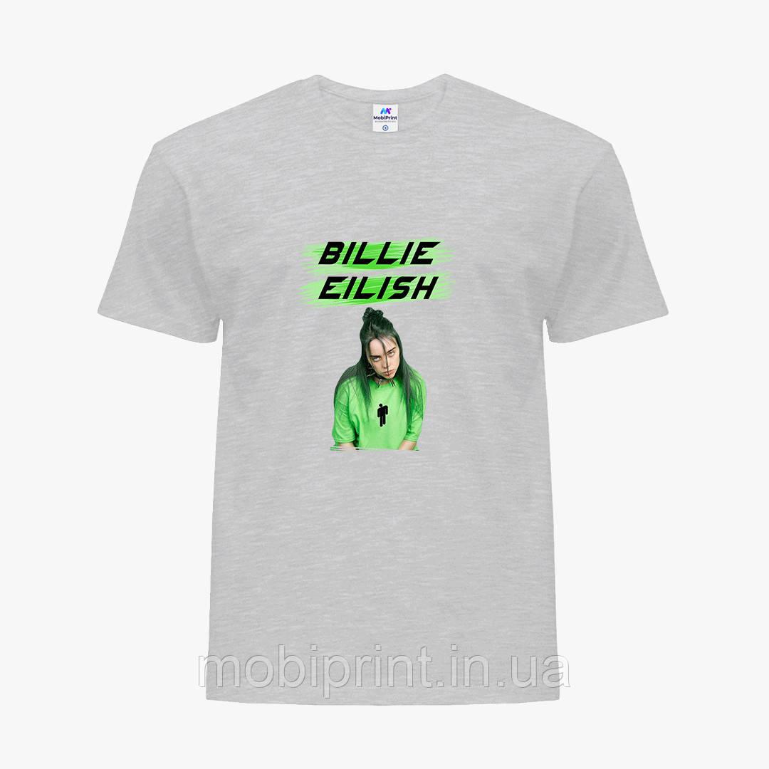 Детская футболка для девочек Билли Айлиш (Billie Eilish) (25186-1207) Светло-серый