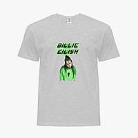 Детская футболка для девочек Билли Айлиш (Billie Eilish) (25186-1207) Светло-серый, фото 1