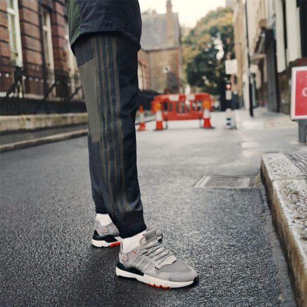Чоловічі кросівки Adidas Nite Jogger Gray Two/ Multi Solid Grey/ Solar Orange (Репліка ААА+)