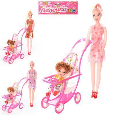 Лялька 339-1 з коляскою 2 шт, з колясой в кульку 18-32-5 см