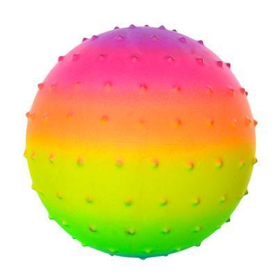 М'яч масажний MS 0939 5,5 дюймів, веселка, шипи ПВХ, 45г