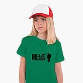 Детская футболка для девочек Билли Айлиш (Billie Eilish) (25186-1211) Зеленый