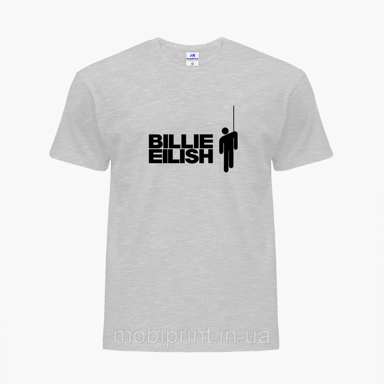 Детская футболка для девочек Билли Айлиш (Billie Eilish) (25186-1211) Светло-серый