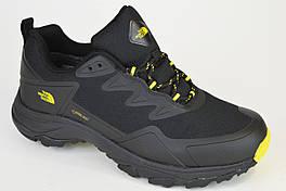 Кроссовки The North Face 9643 Черные с желтым Gore-Tex