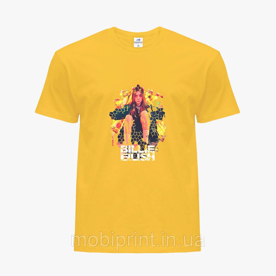 Детская футболка для девочек Билли Айлиш (Billie Eilish) (25186-1212) Желтый