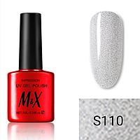 Гель-лак для ногтей фирмы M&X 7ml мелкодисперсные блестки, прозрачный с блестками, перламутровая серия