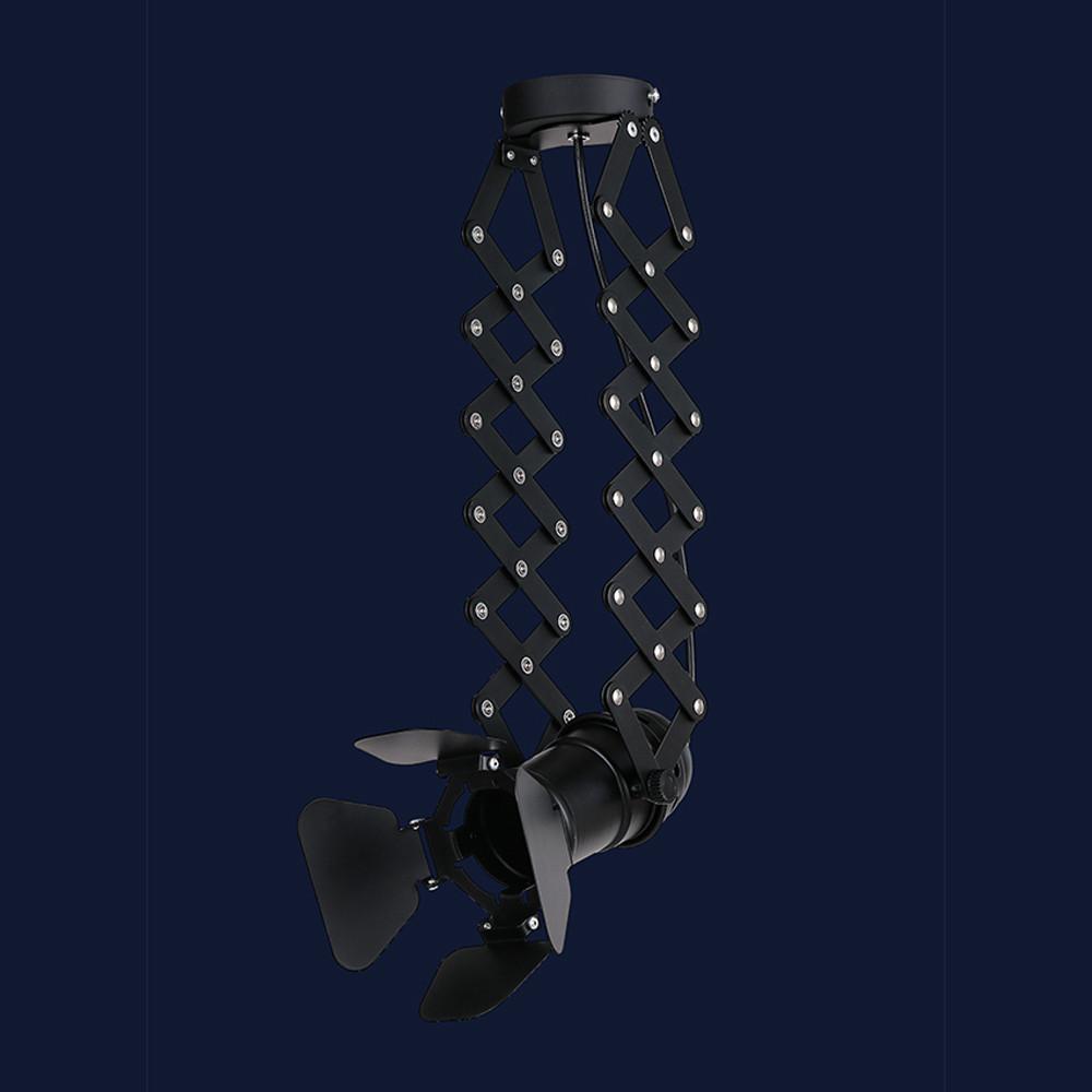 Потолочный трековый светильник с регулировкой высоты цвет черный Levistella&75225 BK