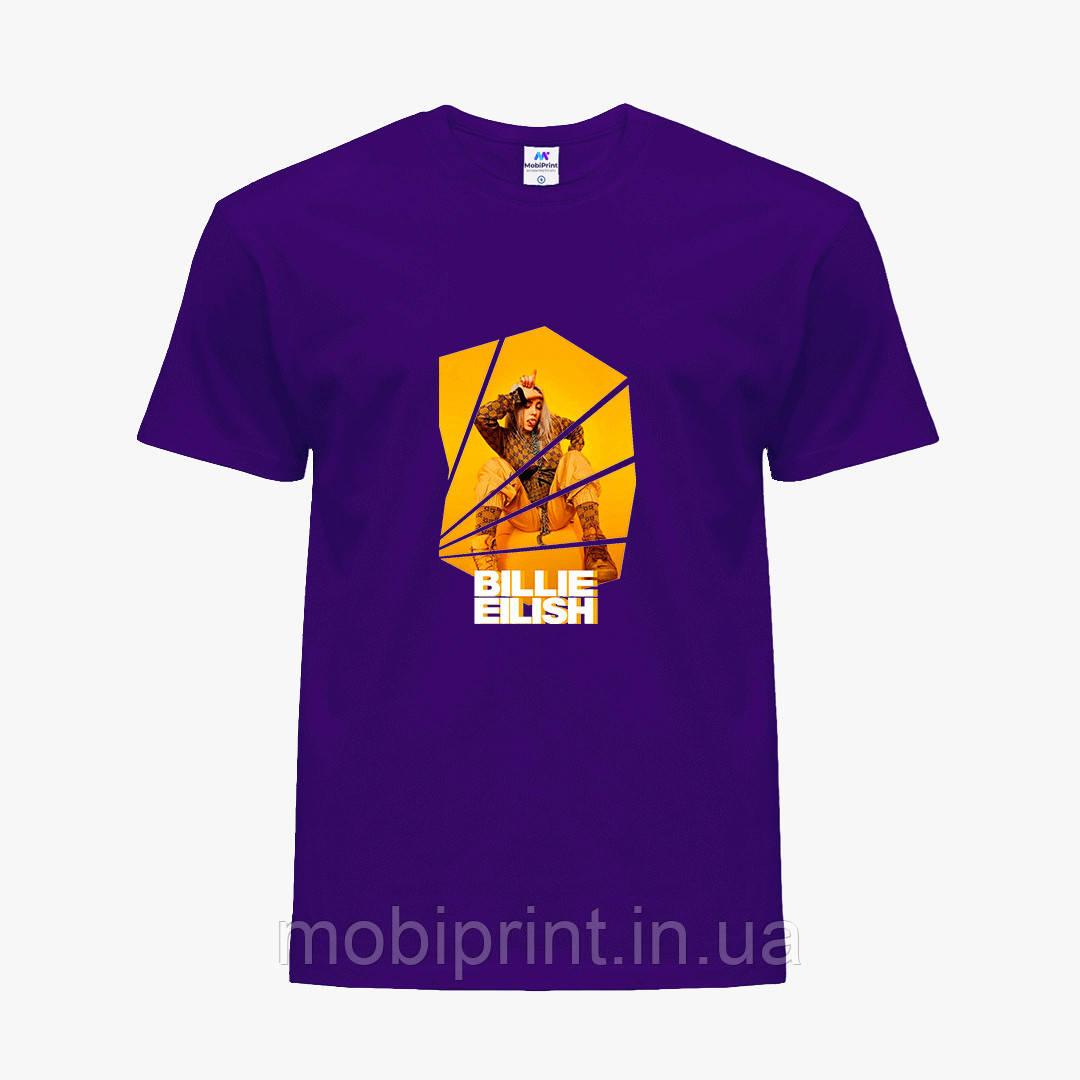 Детская футболка для девочек Билли Айлиш (Billie Eilish) (25186-1216) Фиолетовый