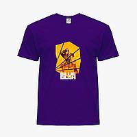 Детская футболка для девочек Билли Айлиш (Billie Eilish) (25186-1216) Фиолетовый, фото 1