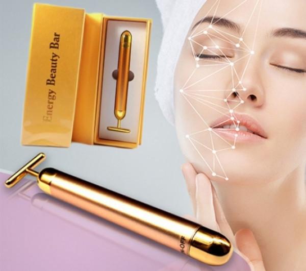 Ионный вибромассажер для лица Energy Beauty Bar REVOSKIN Gold