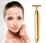 Ионный вибромассажер для лица Energy Beauty Bar REVOSKIN Gold, фото 7