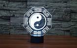 Електричний світильник Настільний з оптичним ефектом 3D, фото 6