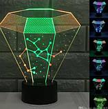 Електричний світильник Настільний з оптичним ефектом 3D, фото 8