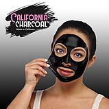Маска від чорних точок для очищення пір з деревним вугіллям California Charcoal Face Mask, фото 3