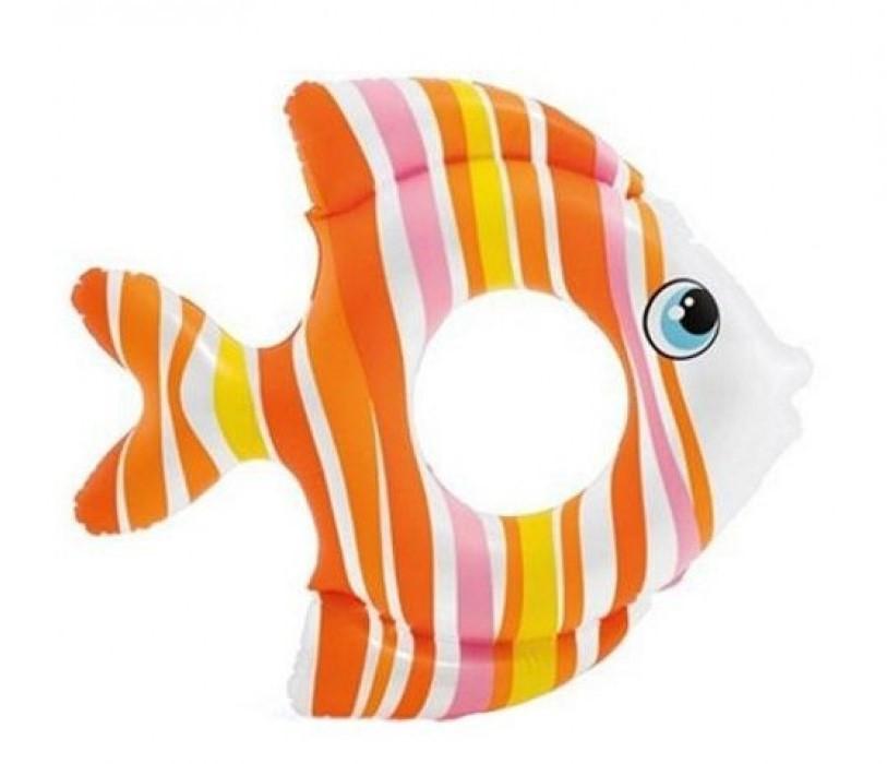 Надувний круг для дітей Тропічні рибки 59223 SH INTEX Помаранчевий