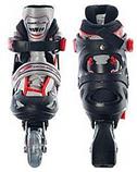 Полупрофессиональные раздвижные ролики PROFI A 5069 S (30-33)  Черно-зеленые ,полумягкие, фото 3