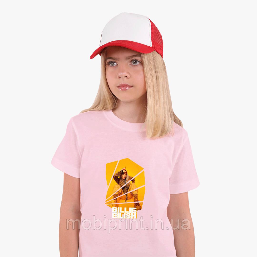 Детская футболка для девочек Билли Айлиш (Billie Eilish) (25186-1216) Розовый