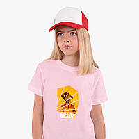 Детская футболка для девочек Билли Айлиш (Billie Eilish) (25186-1216) Розовый, фото 1