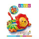Надувний круг для дитини Intex 58221 «Левеня», 72 х 66 см, фото 3