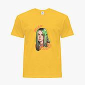 Детская футболка для девочек Билли Айлиш (Billie Eilish) (25186-1599) Желтый