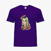 Детская футболка для девочек Билли Айлиш (Billie Eilish) (25186-1599) Фиолетовый
