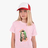 Детская футболка для девочек Билли Айлиш (Billie Eilish) (25186-1599) Розовый