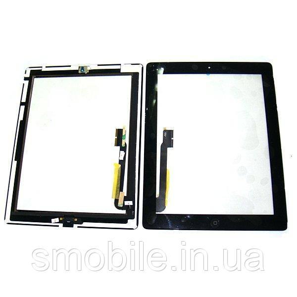 Apple Сенсорный экран iPad 3 черный + шлейф и кнопка HOME (оригинальные комплектующие)
