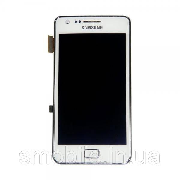 Samsung Дисплей Samsung i9105 Galaxy S2 Plus с белым сенсорм и рамкой серебристого цвета GH97-14301B (оригинал