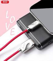XO Lightning кабель зарядки и синхронизации XO NB43 LOVE для iPhone iPad iPod красный (1000 мм), фото 1