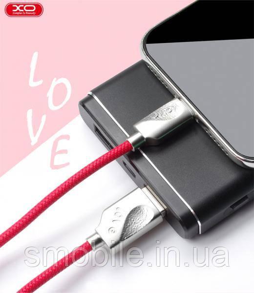 XO Lightning кабель зарядки и синхронизации XO NB43 LOVE для iPhone iPad iPod красный (1000 мм)