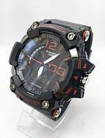 Часы мужские спортивные водостойкие G-SHOCK Casio (Касио), цвет черный с красным ( код: IBW418BR )